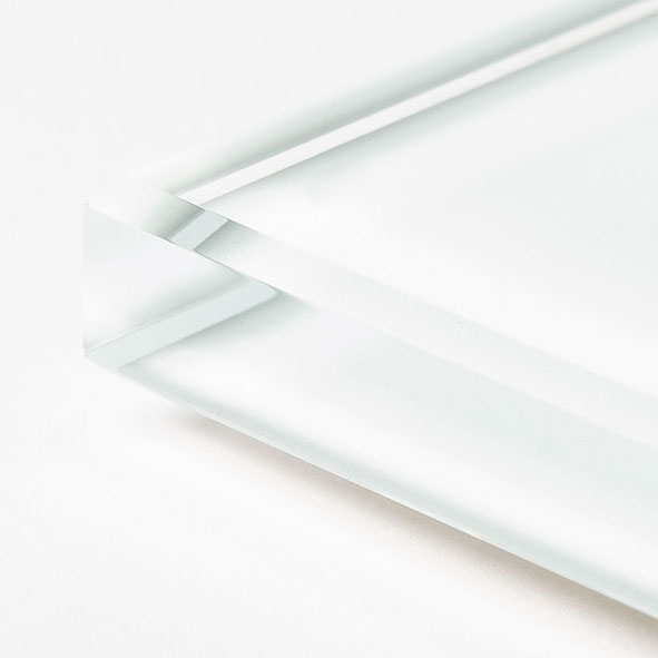 Cristallo Extrachiaro Acidato Verniciato Bianco